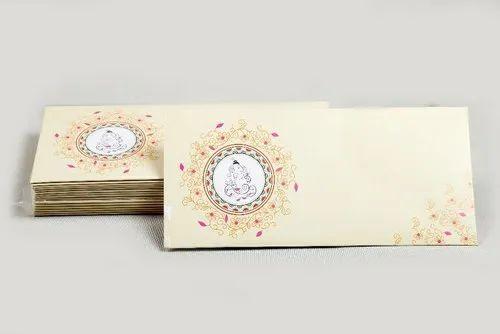 Rectangular Art Paper Fancy Wedding Card Envelope Packaging Type
