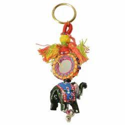 Elephant Poth Mirror Keychain