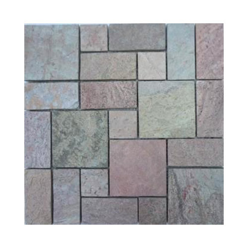 Star Tiles Natural Slate Stone Mosaic Tile, For Construction, 5-10 Mm