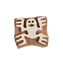 Ghost Pattern Wooden Henna Printing Blocks