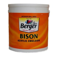 Bison Acrylic Emulsion Interior Wall Paint, Packaging Type: Bucket