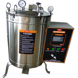 Stainless Steel Double Wall Hamco Vertical Laboratory Autoclave, Warranty: 1 Year, 2-6 KW
