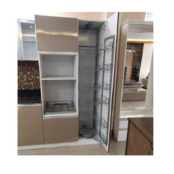 Pull Out Pantry Stainless Steel Acrylic Kitchen Pantry