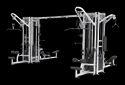 Mild Steel 8 Station Multi Gym