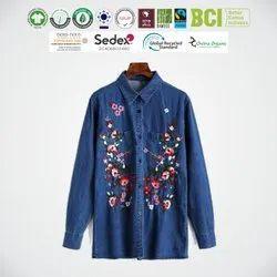 Eco Cotton Ladies Full Sleeve Shirts