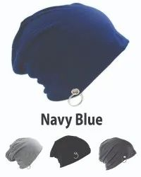 Ring Beanie Cotton Navy Blue Caps