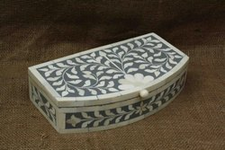 Bone Inlay Jewelry Box In Floral Design