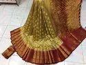 Moonga Fabric Wedding Wear Saree