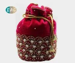 Beaded Embroidery Potli Bags