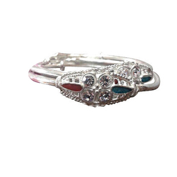 Silver Designer American Diamond Bangle