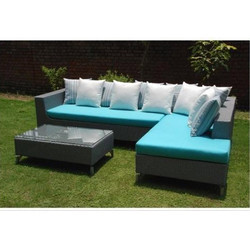 Outdoor Wicker L Shape Sofa
