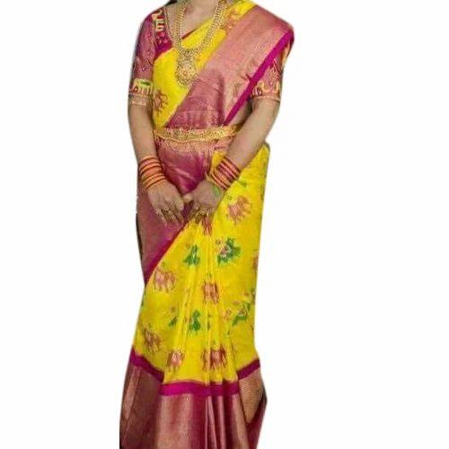11dacbe14b Pochampally Ikkat Pattu Sarees, 6.5 m (with blouse piece), Rs 9800 ...