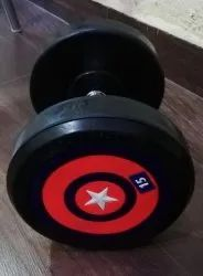 Round Rubber Dumbells Body Tech for Gym