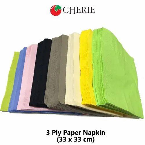 Purple Plain Cocktail Paper Napkins, for Restaurant