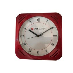 Analog Red Corporate Promotional Table Top Clock