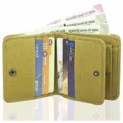 Men''s Beige PU Leather Wallet