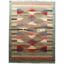 Indian Flat Weave Woollen Durries Carpet