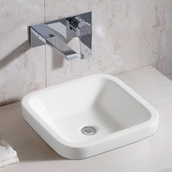 Ceramic White Top Mount Bathroom Wash Basin