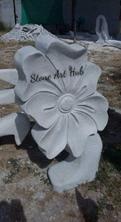 White Stone Carved Flower