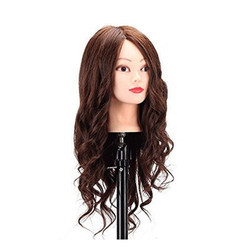 25 Inch 2 in1 85% Original Human Hair Practice for Cutting