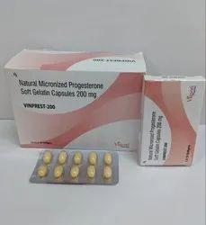 Natural Micronized Progesterone Soft Gelatin Capsules 200mg