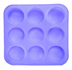 Round Silicone Soap Mold 125 gms