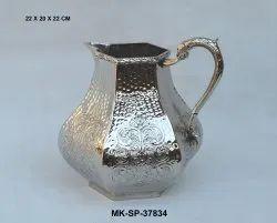 Brass Silver Plated Jug, Model Name/Number: MK-SP-37834
