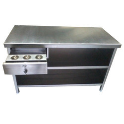 Stainless Steel Cash Counter