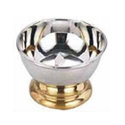 Silver, Golden Stainless Steel Ice Cream Bowls