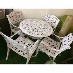 The Furnstore Modern Iron Garden Table Chair