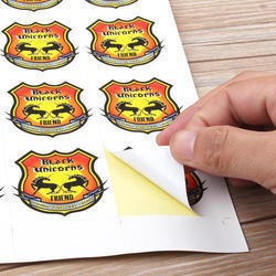 Logo Printed PVC Stickers, Packaging Type: Packet