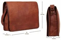 15 Inch Genuine Leather Handmade Vintage Rustic Crossbody Messenger Courier Satchel Bag