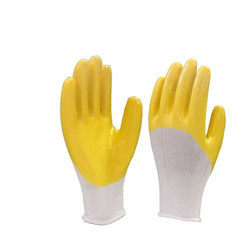 Cotton Supported Cut and Sewn Moire Finish Latex Coating Glove