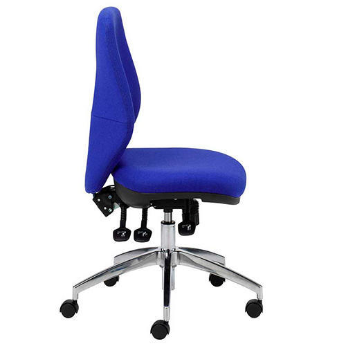Polyester Blue Armless Office Chair With Wheels Rs 2050 Piece Id 20026891733