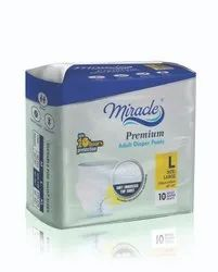 Pant Type MIRACLE ADULT PULL UP DIAPERS, Packaging Size: 10 Pieces
