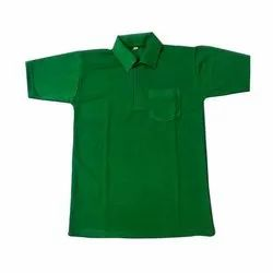 Cotton Half Sleeve Green Boys Polo T-Shirt, Packaging Type: Packet