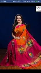 Handloom Embroidered Silk Saree