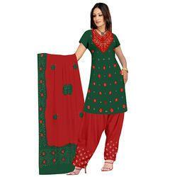 Green Bandhej Designer Suit