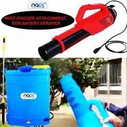 Battery Powered Knapsack Sprayer with Mist Fog Spray Attachment