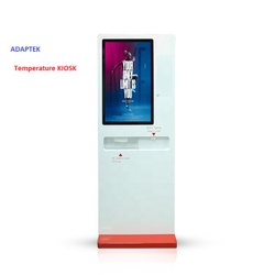 Automatic Temperature Testing With Sanitizer Kiosk