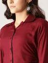 Viscose Rayon Maroon Solid Shirt