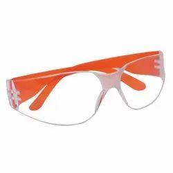 Polycarbonate 3M 11850IN Virtua Hardcoat Orange Temple Protective Eye wear, Frame Type: Plastic, Ansi Z07 1-20