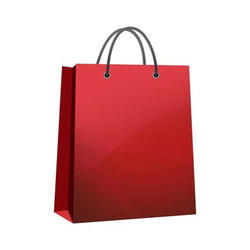 Red Grocery Carry Paper Bag