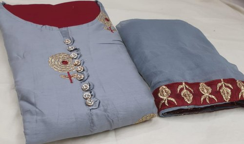 Details about  /India Pakistani Bollywood Soft linen with self print with fancy button neck