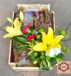 Yellow And Green Wedding Trousseau Packing