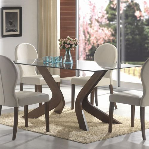 Glass Dining Table Set Kitchen Dining Furniture Walia Steel