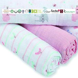Pure Cotton Baby Swaddles