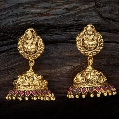Kuber Craft Antique Gold Plated Silver Jhumkas, Rs 350 /pair Kuber Craft |  ID: 20626475297