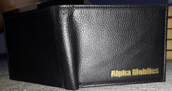 hoopla Black leather men wallets, Card Slots: 4