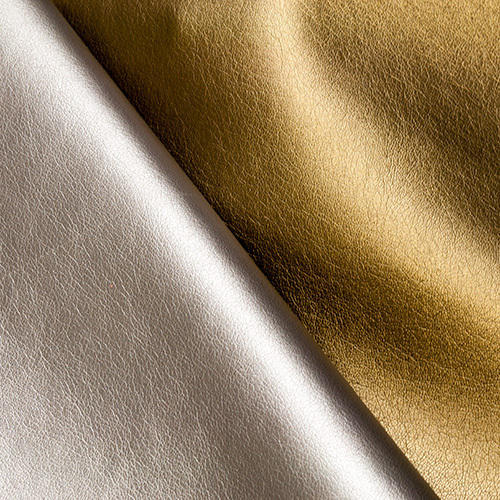 e198f1892171 Silver And Golden Goat Foil Leather Sheet
